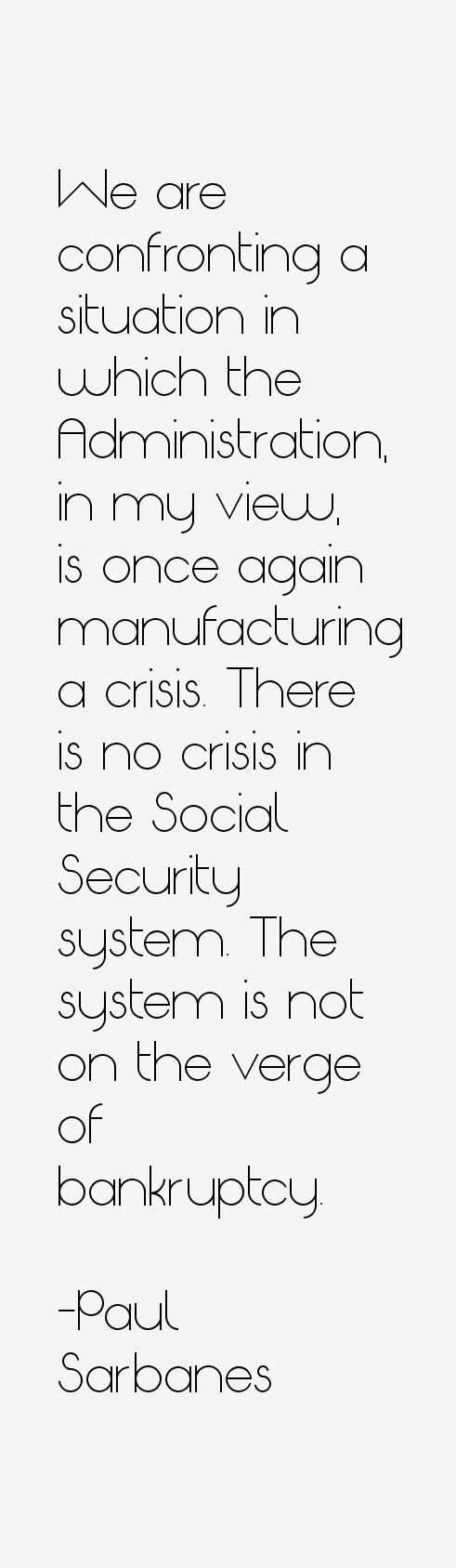 Paul Sarbanes Quotes
