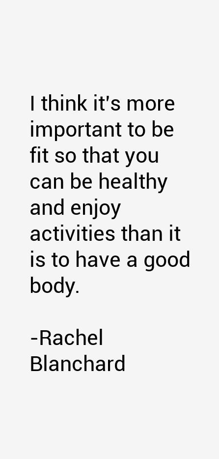 Rachel Blanchard Quotes