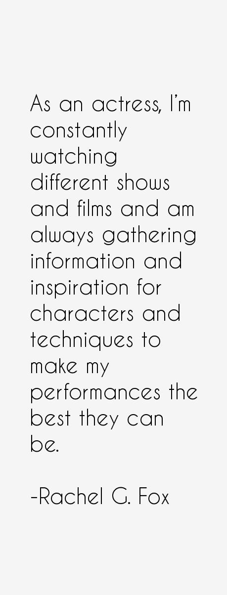 Rachel G. Fox Quotes