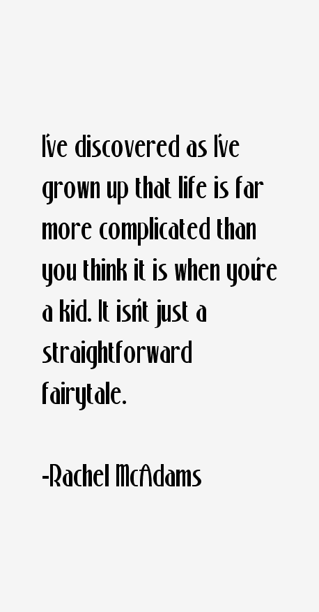 Rachel McAdams Quotes