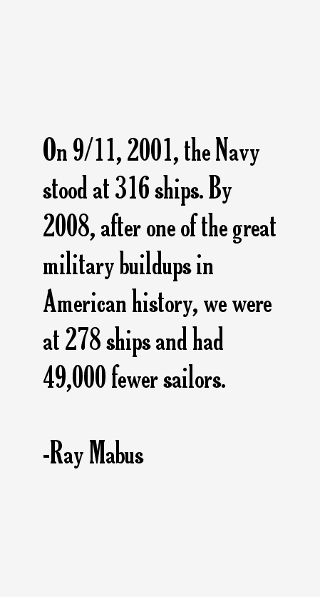 Ray Mabus Quotes