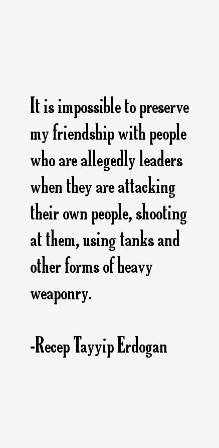 Recep Tayyip Erdogan Quotes