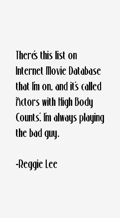 Reggie Lee Quotes