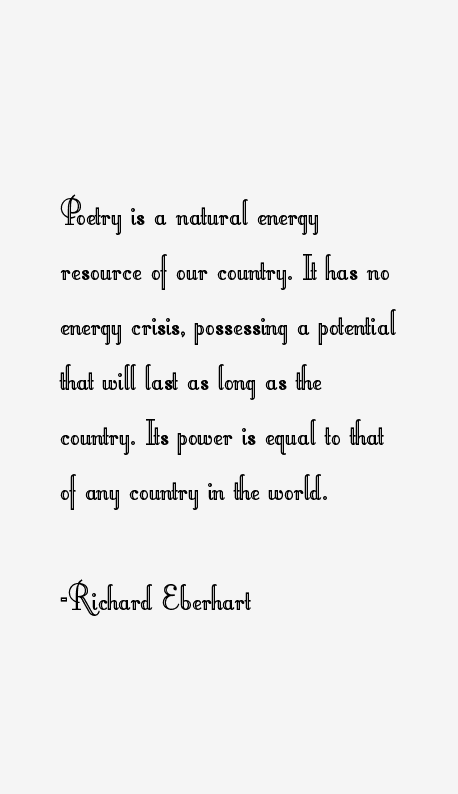 Richard Eberhart Quotes