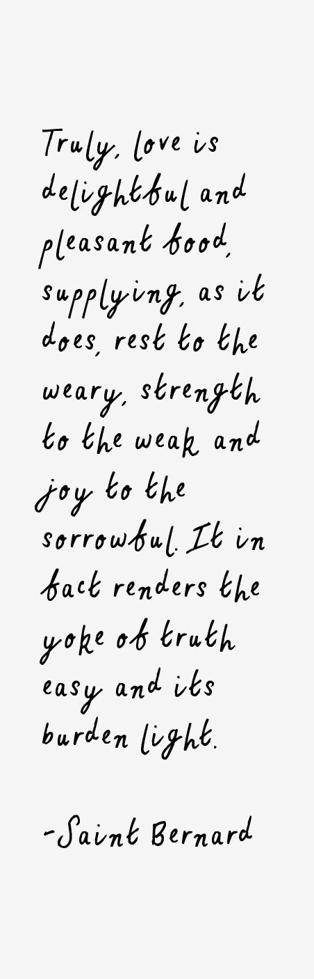 Saint Bernard Quotes