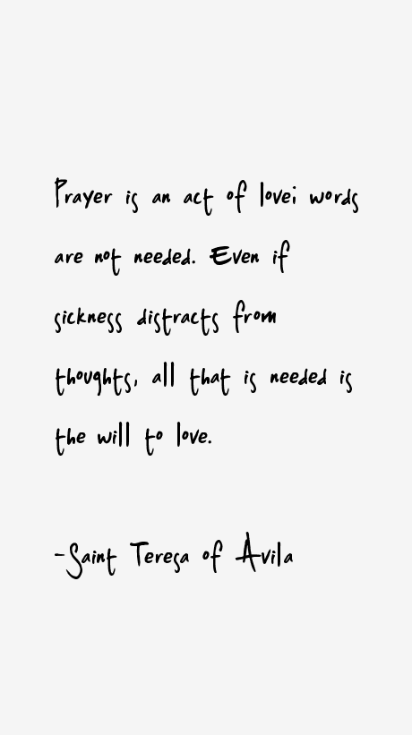 Saint Teresa of Avila Quotes