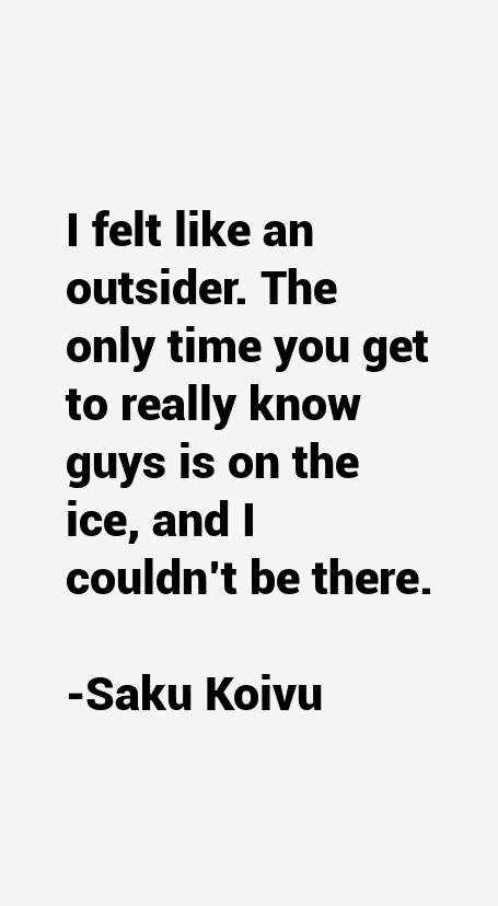 Saku Koivu Quotes