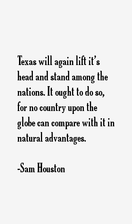 Sam Houston Quotes
