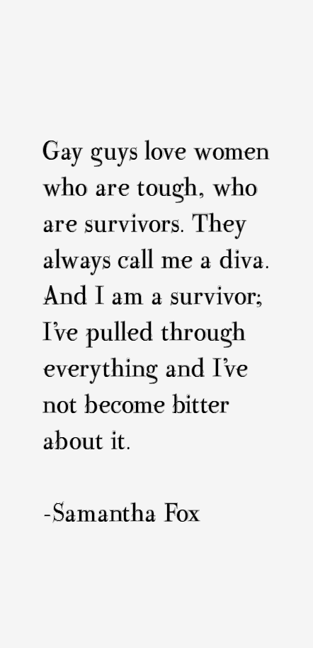 Samantha Fox Quotes