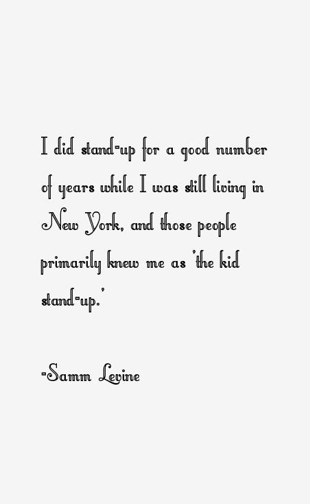 Samm Levine Quotes