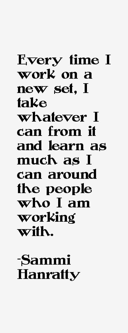 Sammi Hanratty Quotes