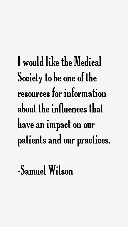 Samuel Wilson Quotes