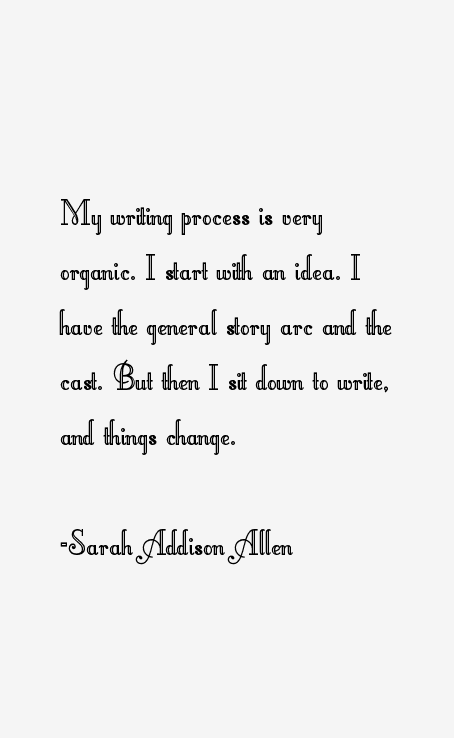 Sarah Addison Allen Quotes