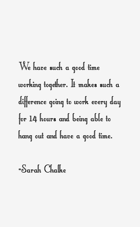 Sarah Chalke Quotes