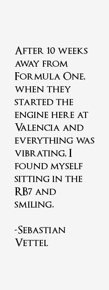 Sebastian Vettel Quotes