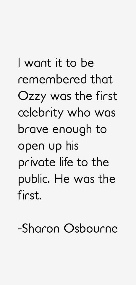 Sharon Osbourne Quotes