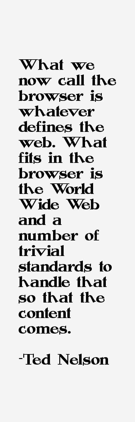 Ted Nelson Quotes