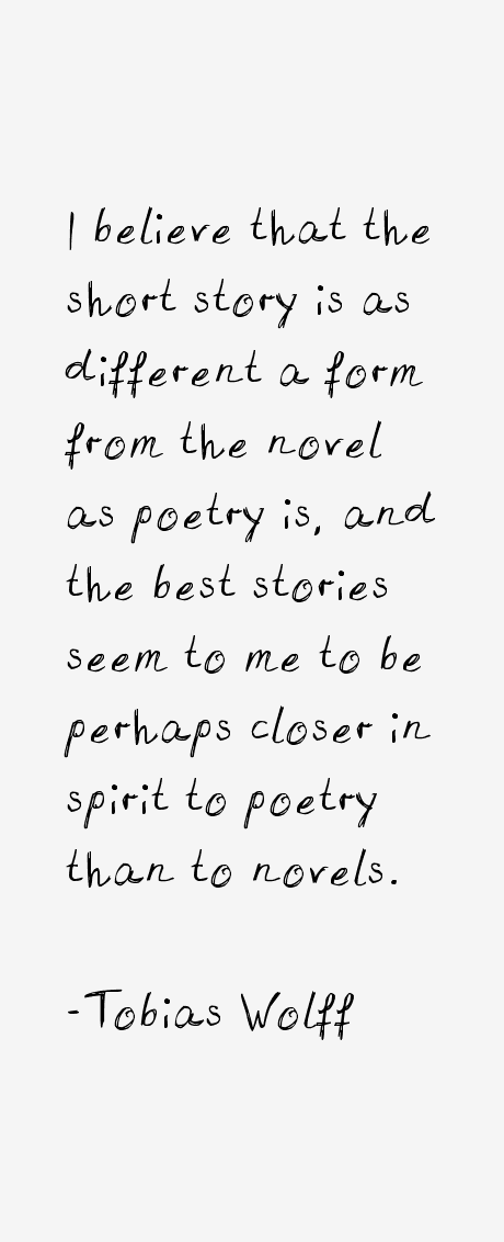 Tobias wolff writing style