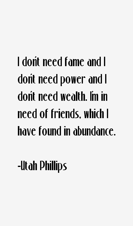 Utah Phillips Quotes