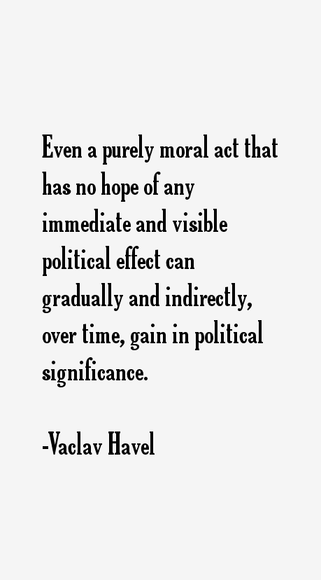 Vaclav havel hope essay