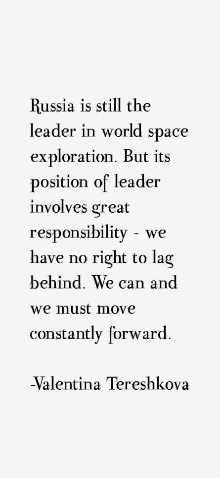 Valentina Tereshkova Quotes