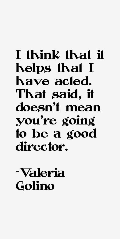 Valeria Golino Quotes