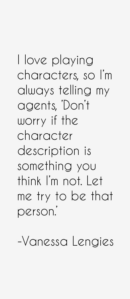 Vanessa Lengies Quotes