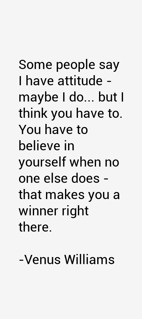 Venus Williams Quotes U0026 Sayings