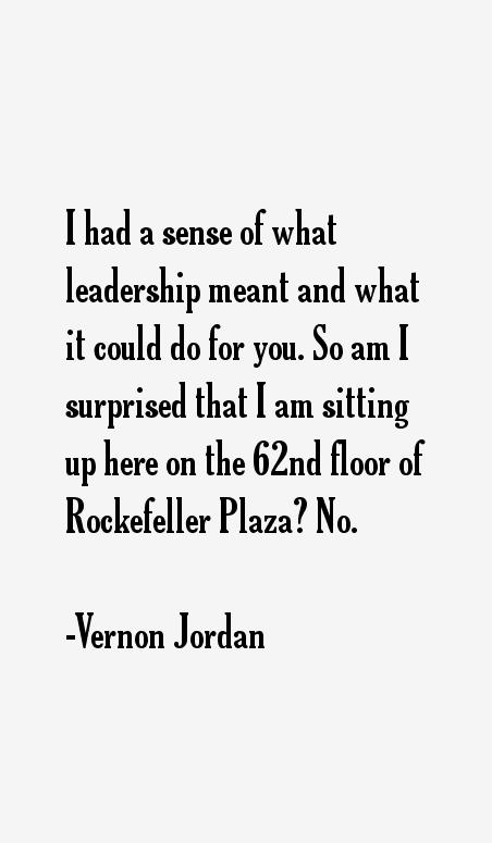 Vernon Jordan Quotes