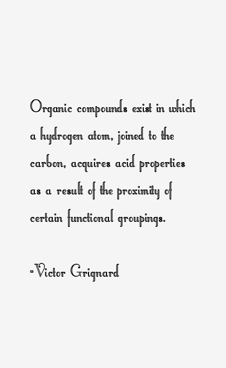Victor Grignard Quotes