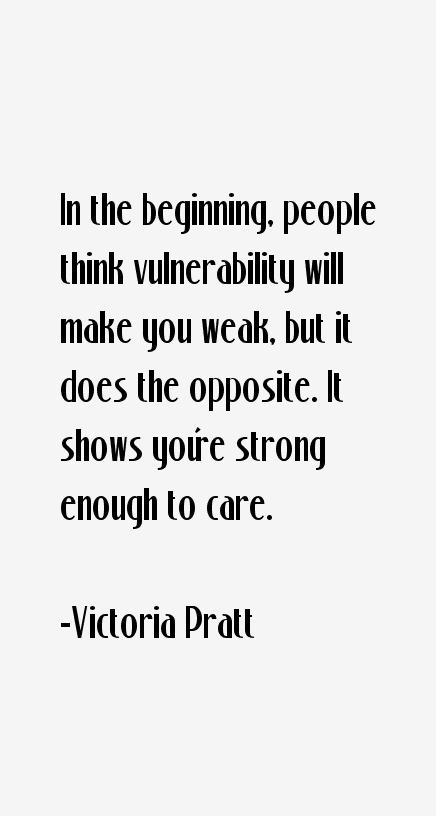 Victoria Pratt Quotes
