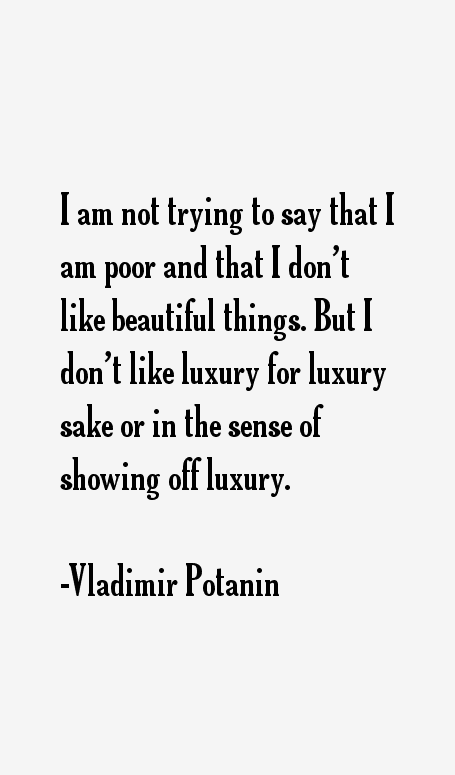 Vladimir Potanin Quotes