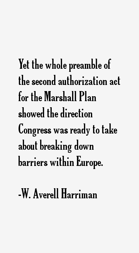 W. Averell Harriman Quotes