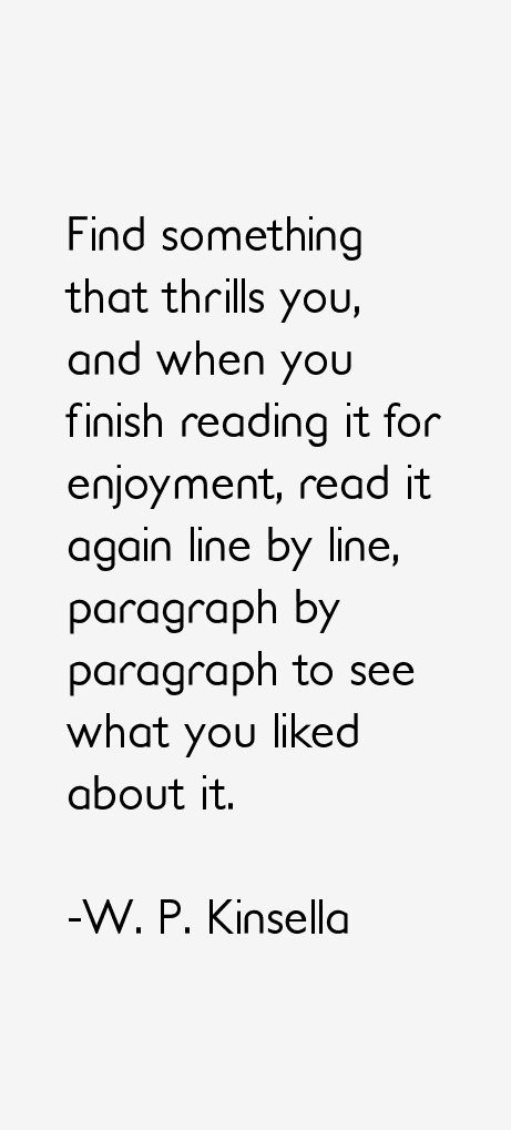 W. P. Kinsella Quotes