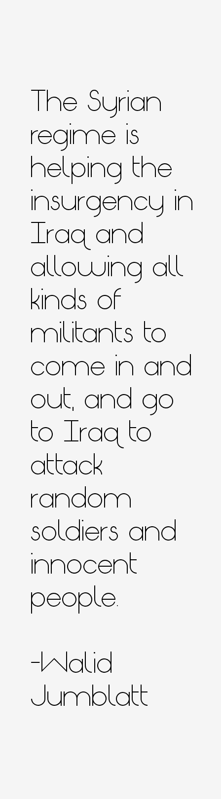Walid Jumblatt Quotes