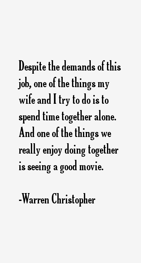 Warren Christopher Quotes