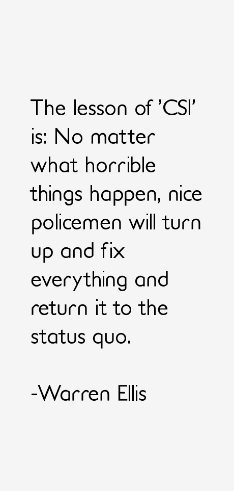 Warren Ellis Quotes