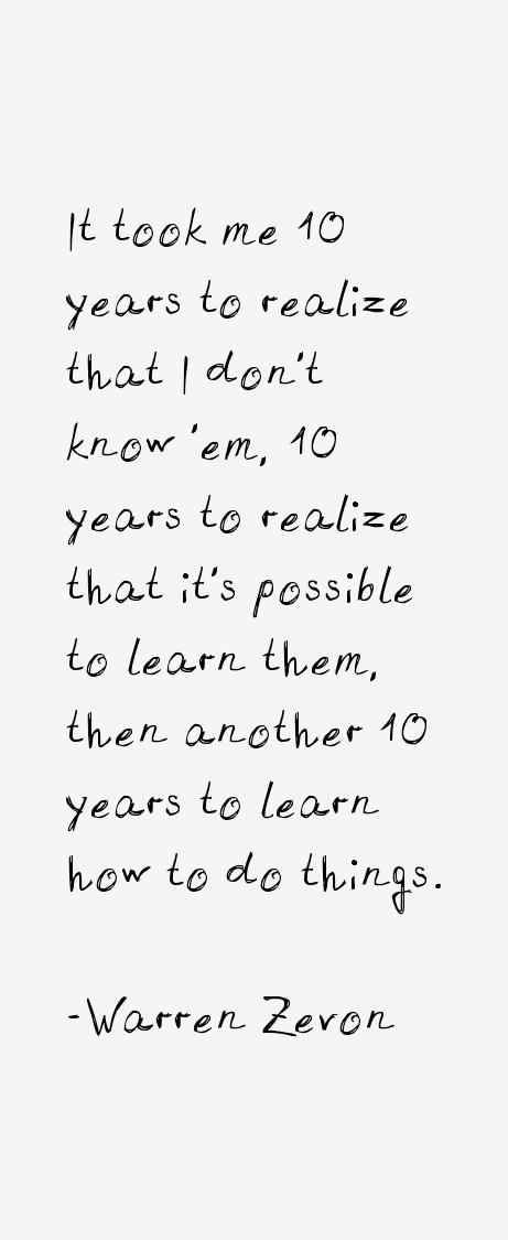 Warren Zevon Quotes
