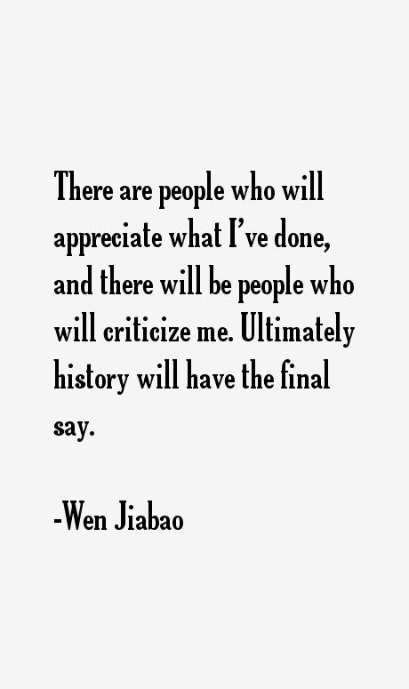 Wen Jiabao Quotes