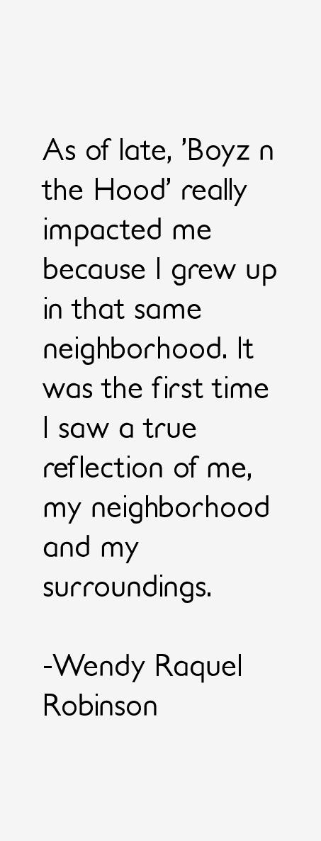 Wendy Raquel Robinson Quotes
