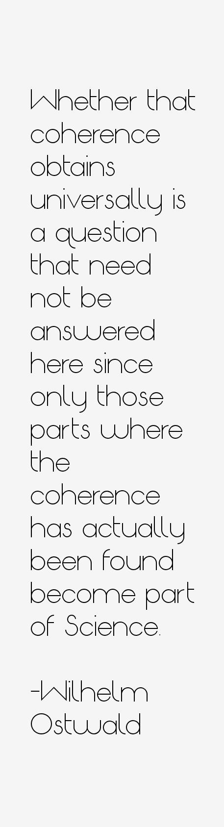 Wilhelm Ostwald Quotes