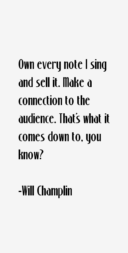 Will Champlin Quotes