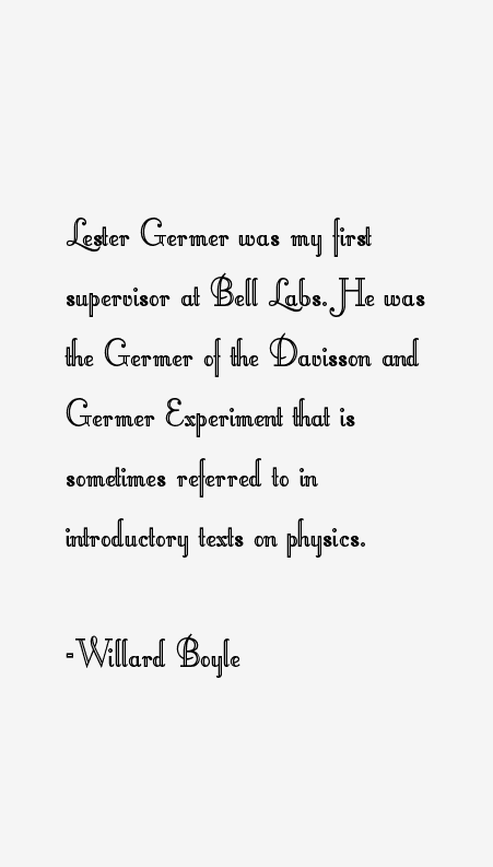 Willard Boyle Quotes