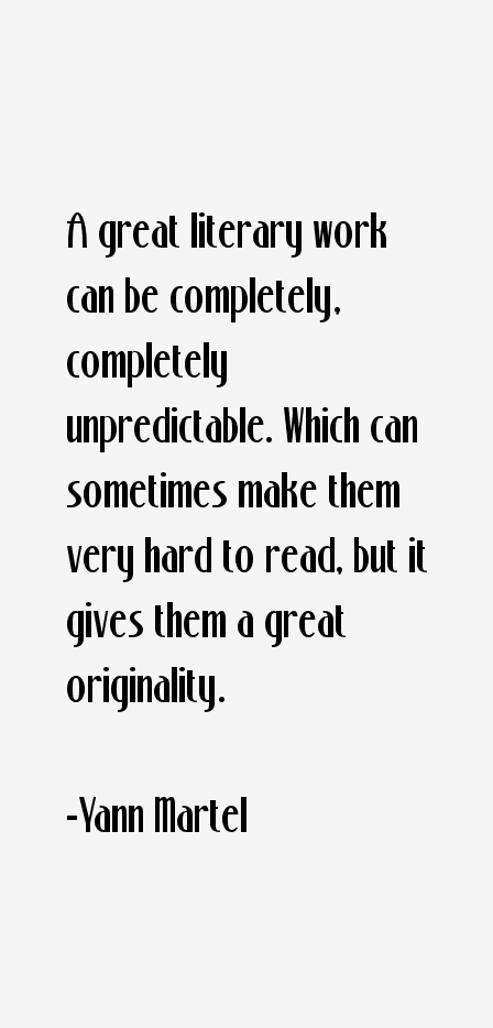 Yann Martel Quotes