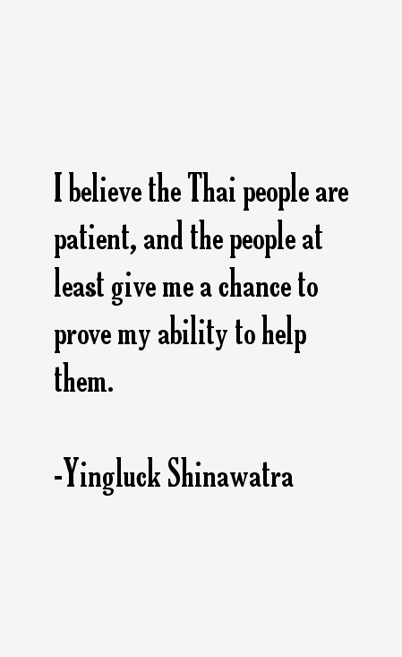 Yingluck Shinawatra Quotes