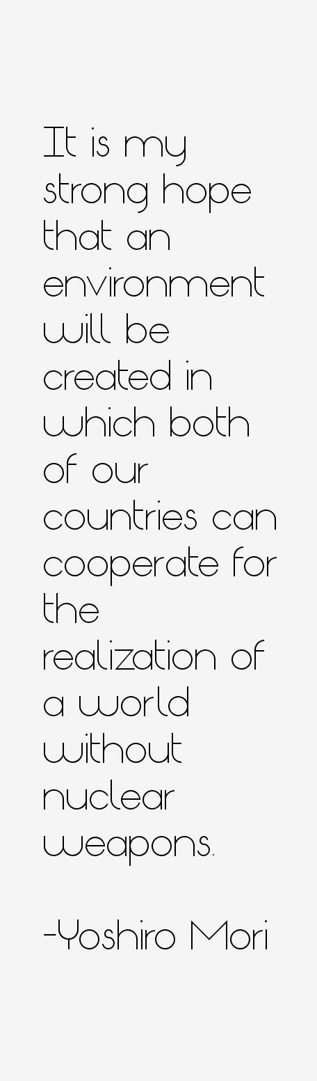 Yoshiro Mori Quotes