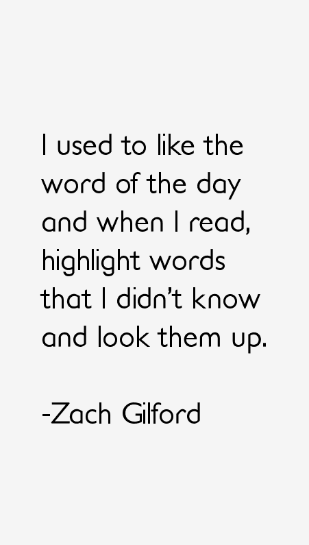 Zach Gilford Quotes