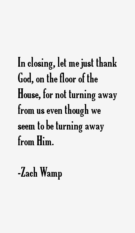Zach Wamp Quotes