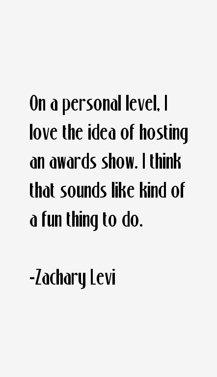Zachary Levi Quotes