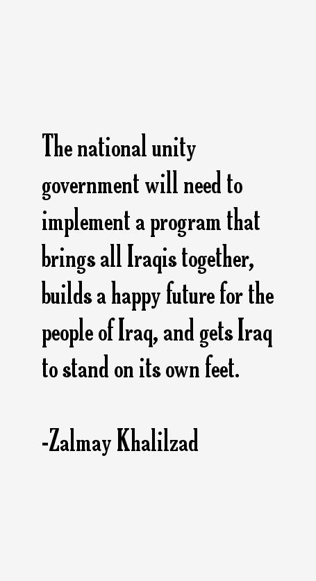 Zalmay Khalilzad Quotes